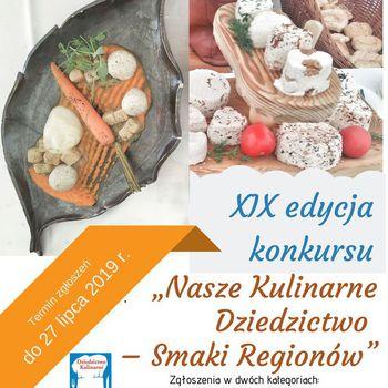 """PLAKAT XIX edycja Konkursu """"Nasze Kulinarne Dziedzictwo – Smaki Regionów"""" .jpeg"""